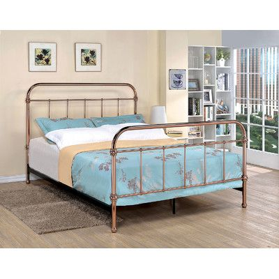 A J Homes Studio Tamia Metal Bed Size Twin Metal Platform Bed