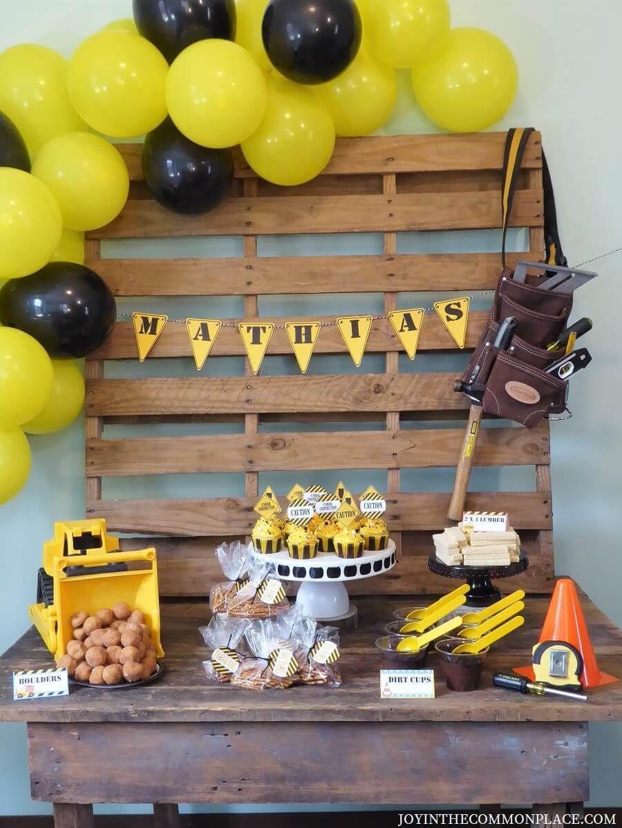 Construction Birthday Party Ideas Construction Theme Party Construction Theme Birthday Party Construction Themed Birthday Party