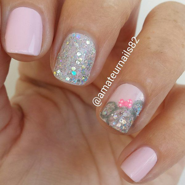 minnie mouse nails | Nails | Pinterest | Minnie mouse, Minnie y ...