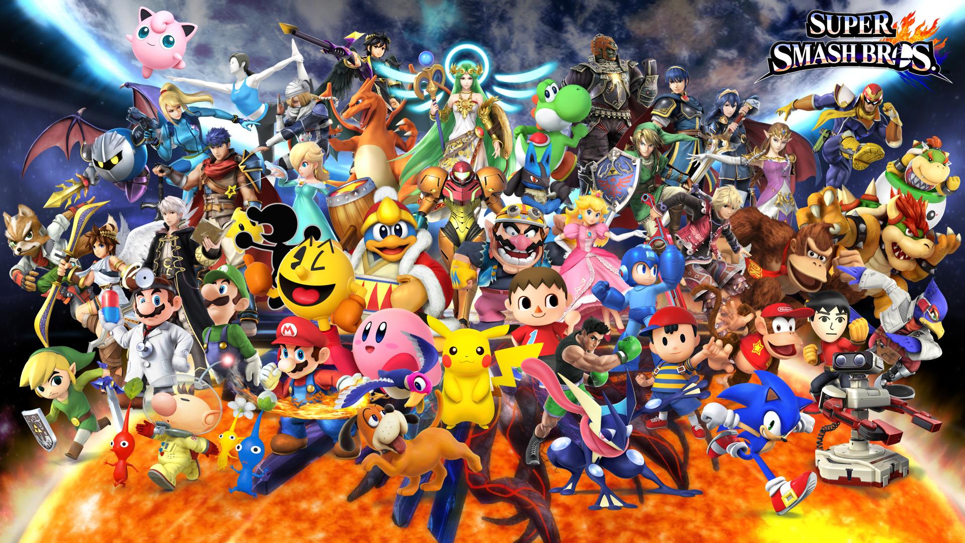 Super Smash Bros Wallpaper Hd Wallpapersafari Smash Bros