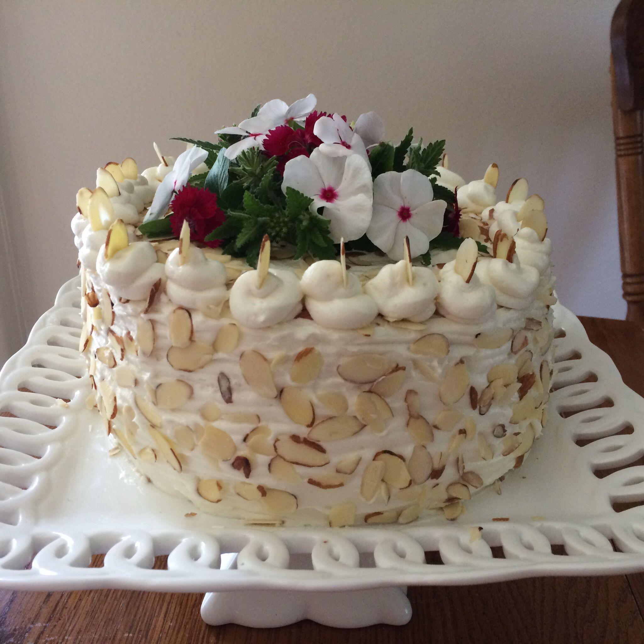 Sharon Shaws Birthday Cake Almond Amaretto The Blue Willow