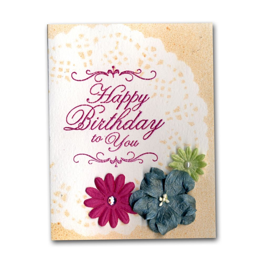 Glimmer Mist Glaze Flower Birthday Card Birthday Cards Invite