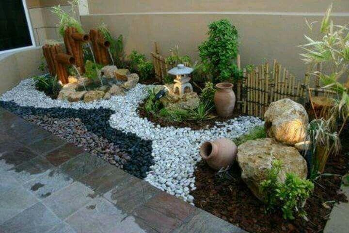 Jardin Con Piedras Y Fuentes Decorar Jardin Con Piedras Decoracion De Jardines Exteriores Jardin Con Piedras