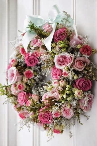 Such A Beautiful Spring Wreath Flowers Pinterest