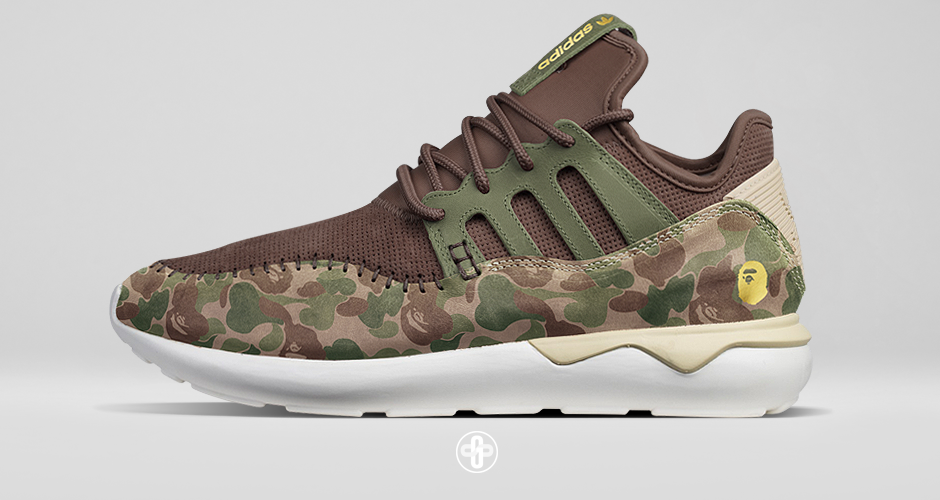 Bape x Adidas Tubular Moc Runner Camo   Bape shoes, Best sneakers ...