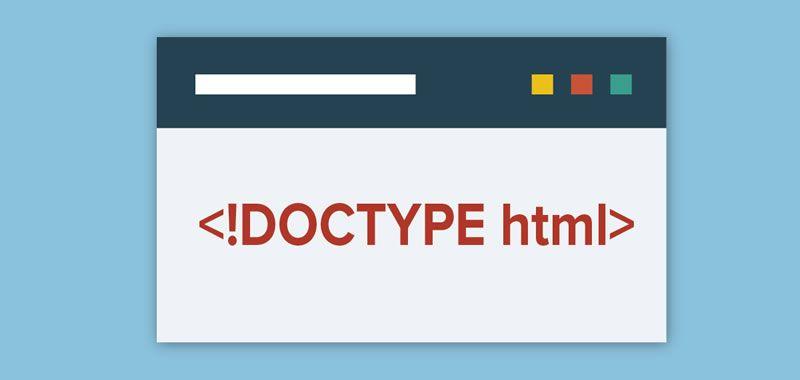 La definición de tipo de documento DOCTYPE html - Qué es y para qué sirve