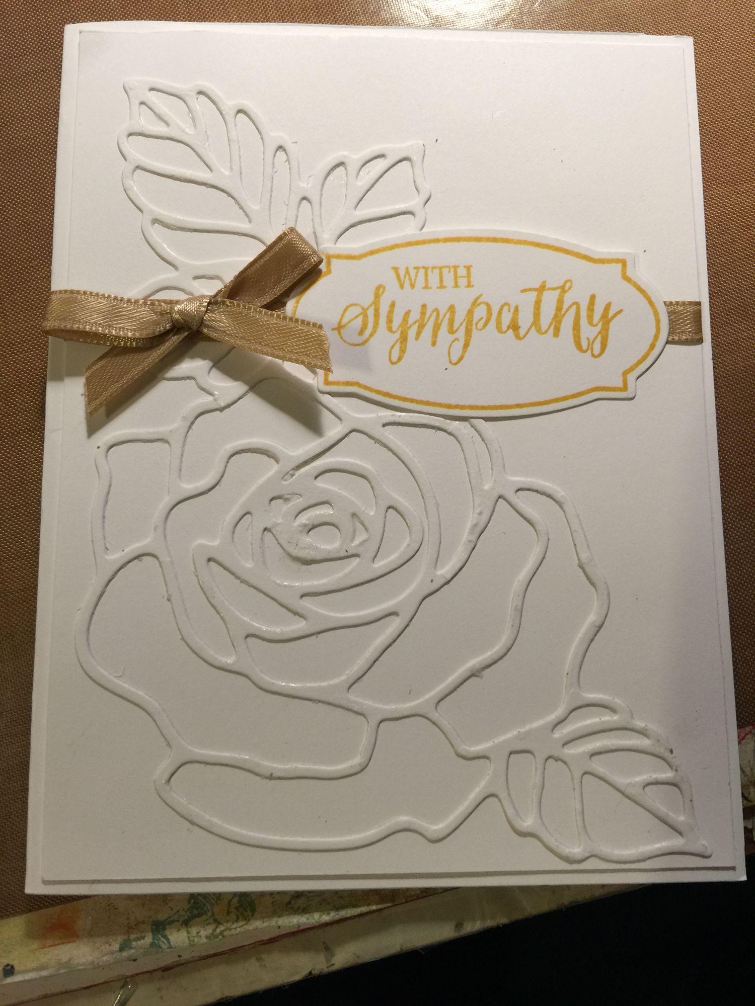 Stampin Up Rose Wonder Sympathy 1 20 16 Homemade Cards Pinterest