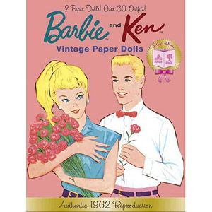 Fishpond Australia Barbie And Ken Vintage Paper Dolls By Golden Books Illustrated Buy Online