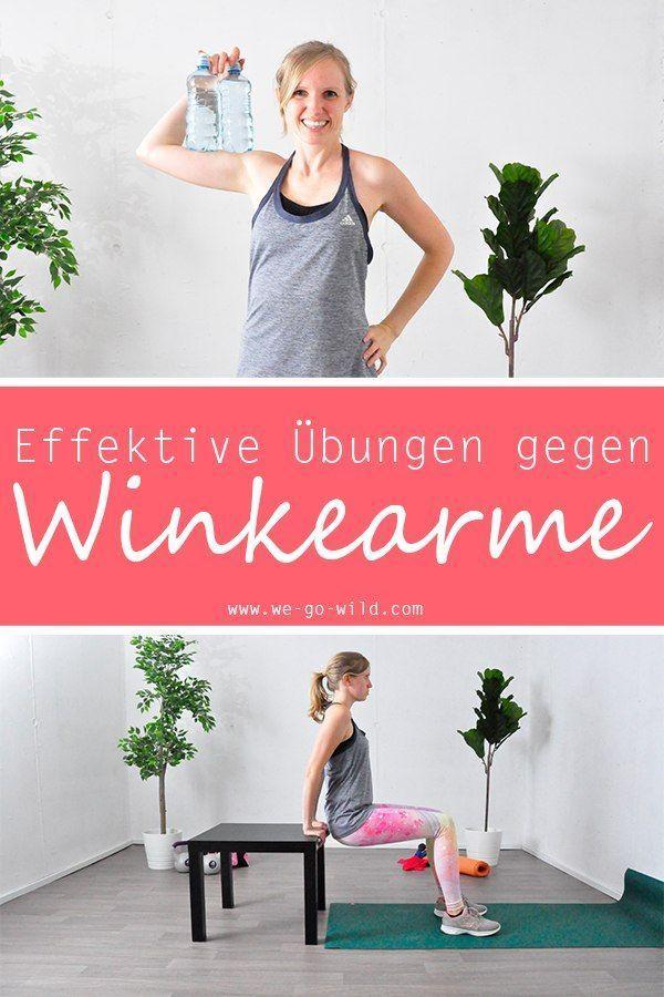14 effektive Übungen gegen Flachwinkelarme: Bye Bye Bingo Arms! - Yoga & Fitness   - Fitness Übungen...
