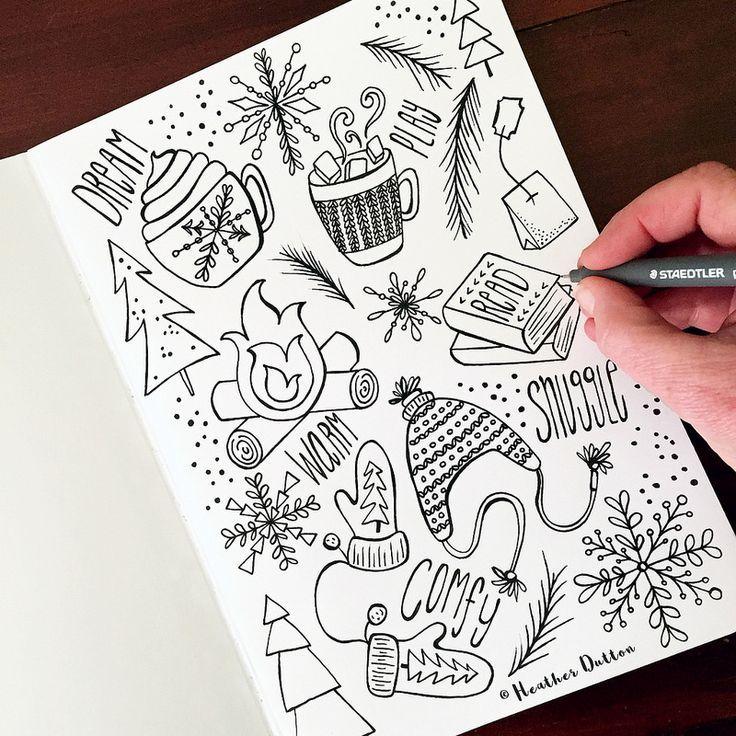 боеспособных красивые зимние рисунки для скетчбука этом видео представлены