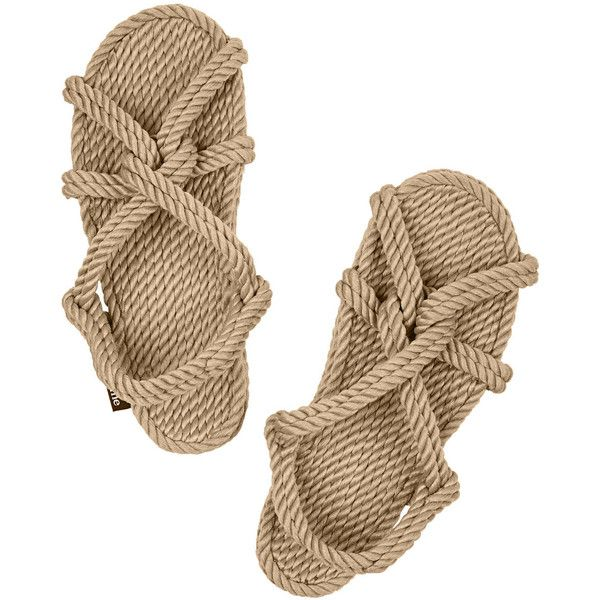 Totême + Gurkees Biot rope sandals ($110) ❤ liked on