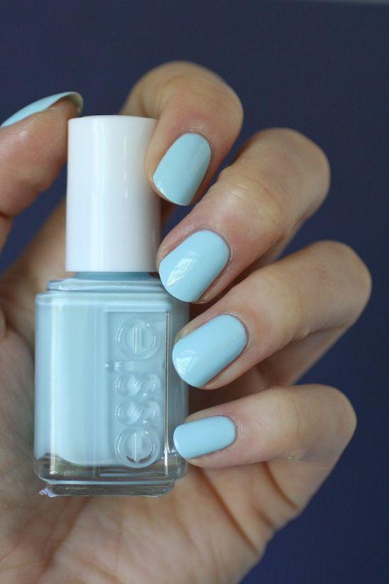 Essie Blue-la-la | Essie Envy | Nails | Pinterest