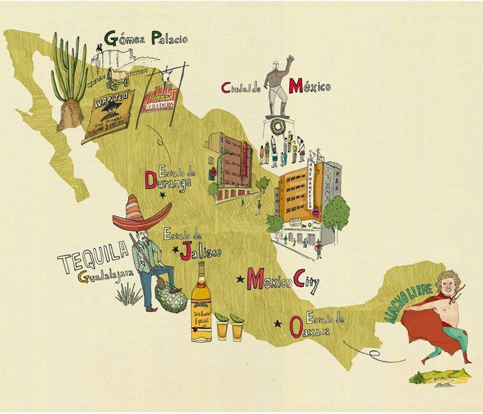 FANTASTICA MANIA 2014 Maps Mapas Mexico Pinterest