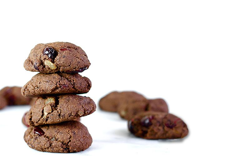 Chocolate Cranberry Ginger cookies