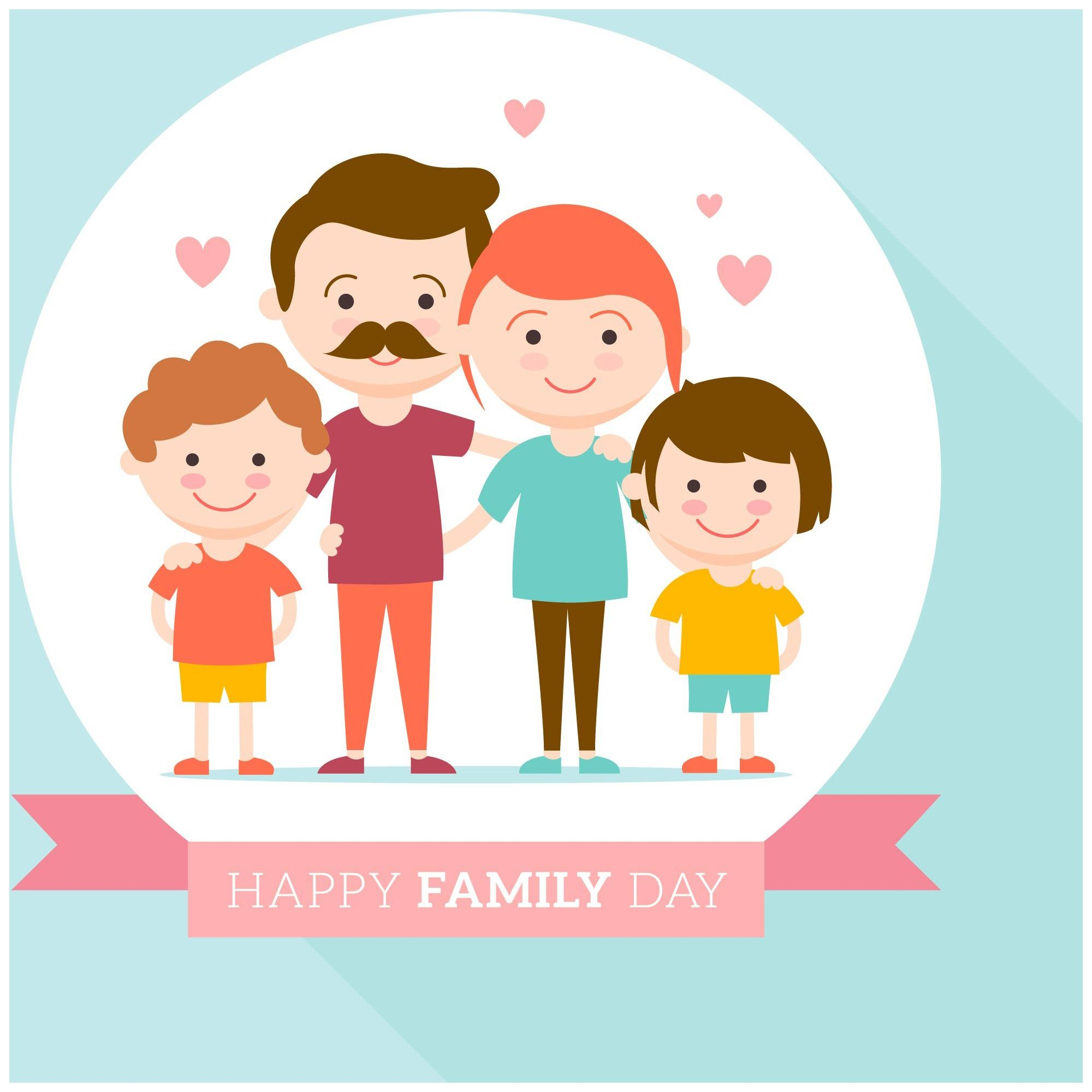Happy Family Day Cute Love Background Wallpaper Family Day Family Day Weekend Happy Fathers Day