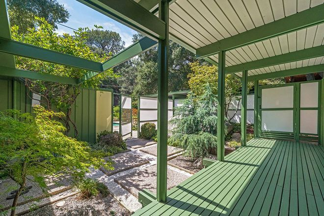 Midcentury, 1954 post-and-beam dream designed by SoCal architect Richard Leitch