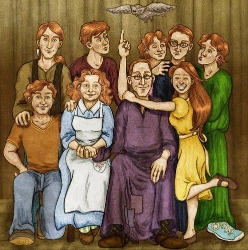 Weasleys Fan Art The Weasley Family Take Two George Weasley Fan Art Weasley Family Harry Potter Fan Art