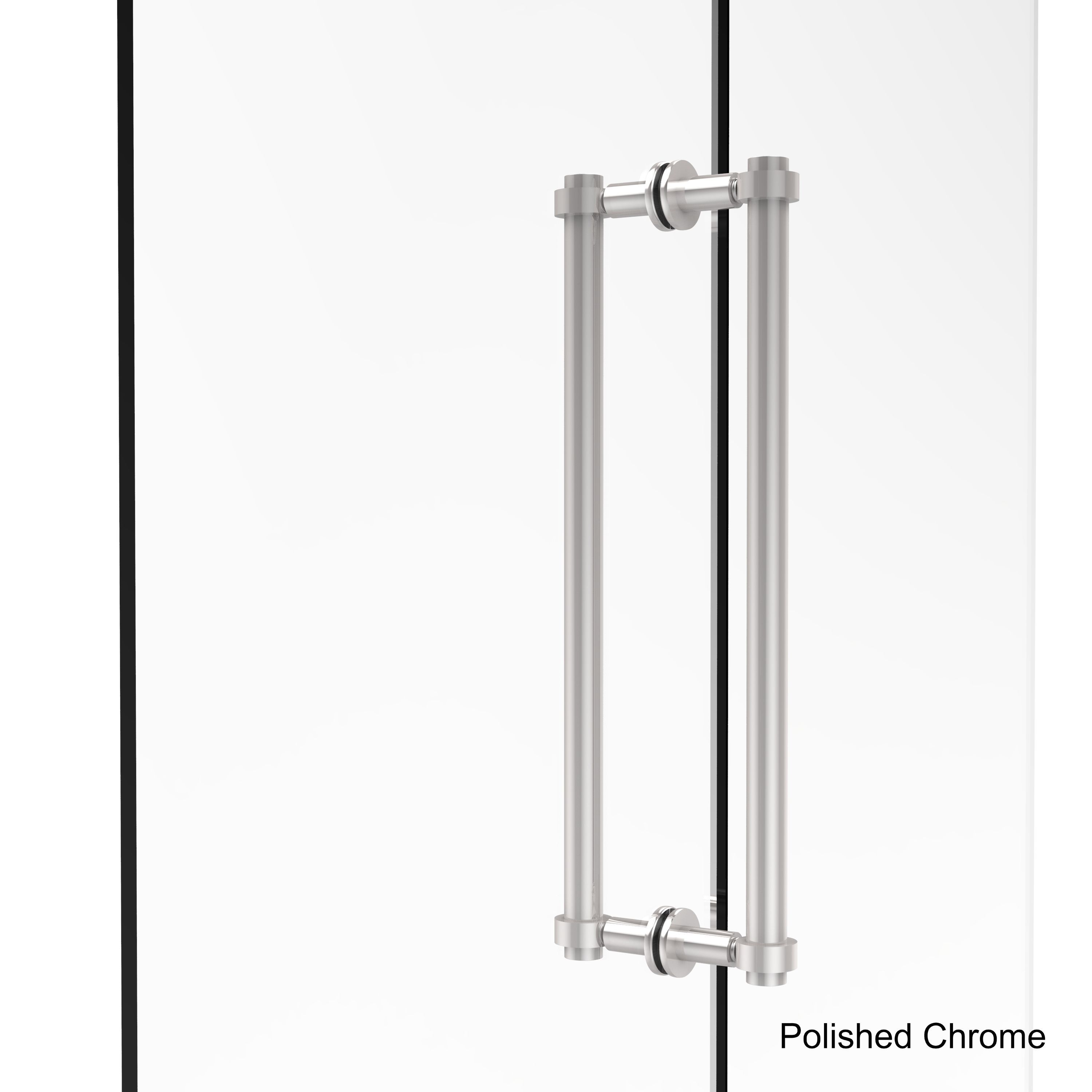 Allied Brass Contemporary 18 Inch Back To Back Shower Door Pull  (Unlacquered Brass), Bronze