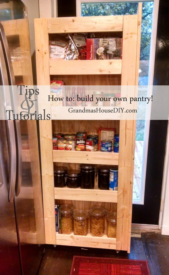 How to build your own rolling pantry wood working diy how to