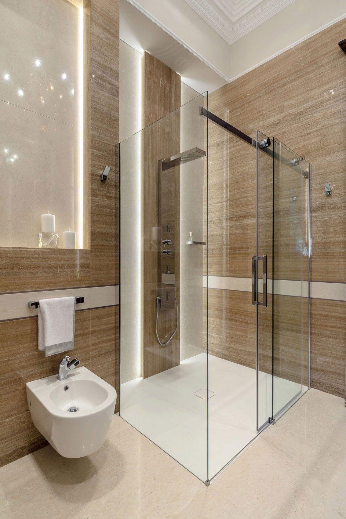 Chic apartment interior design created by ng studio for Diseno de banos lujosos