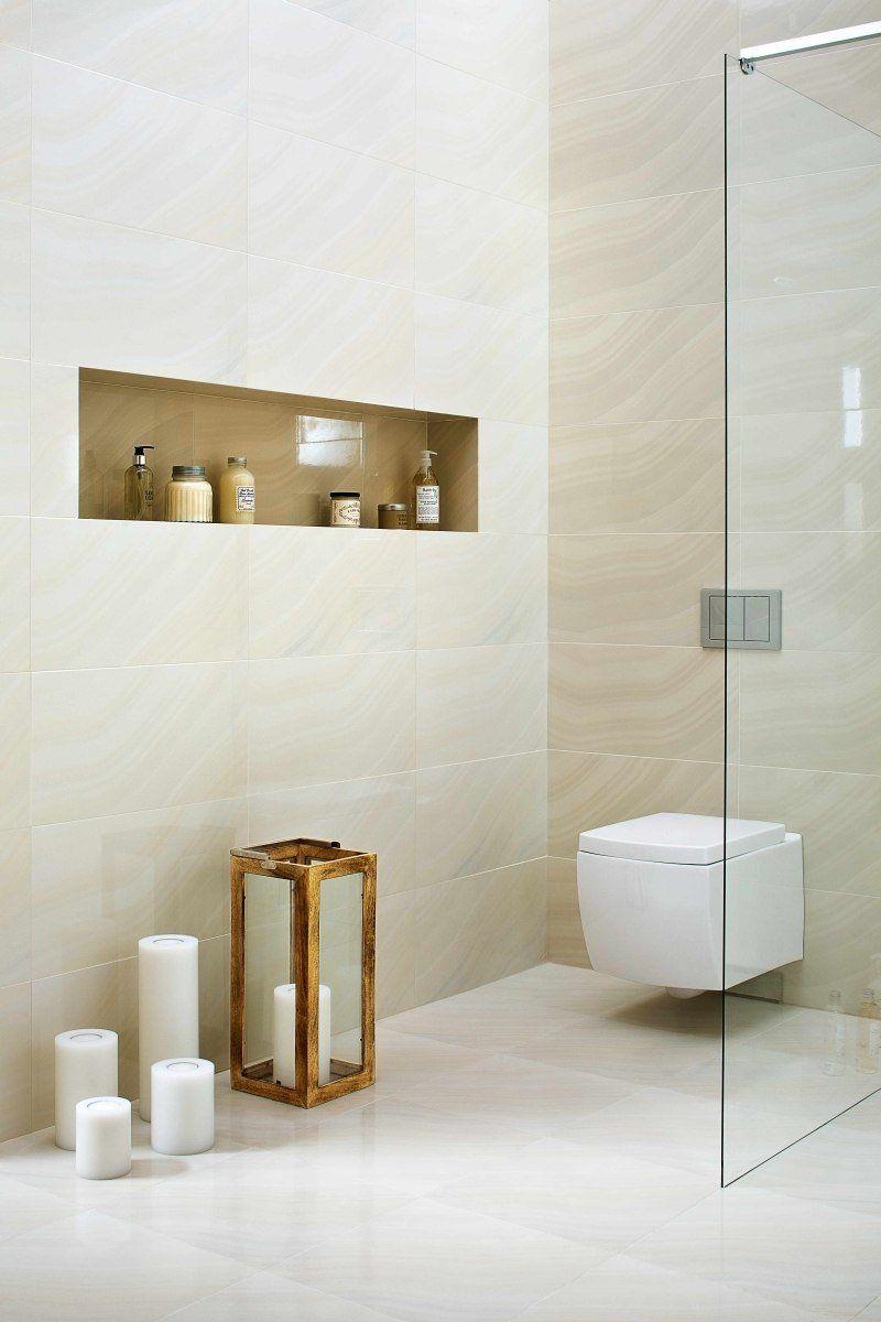 Salle de bain beige id es de carrelage meubles et d co Niche de salle de bain