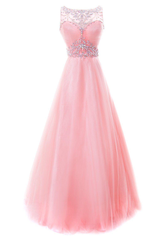 Fiesta Formals Princess Ball Gown Prom Dress Illusion Neckline Black ...