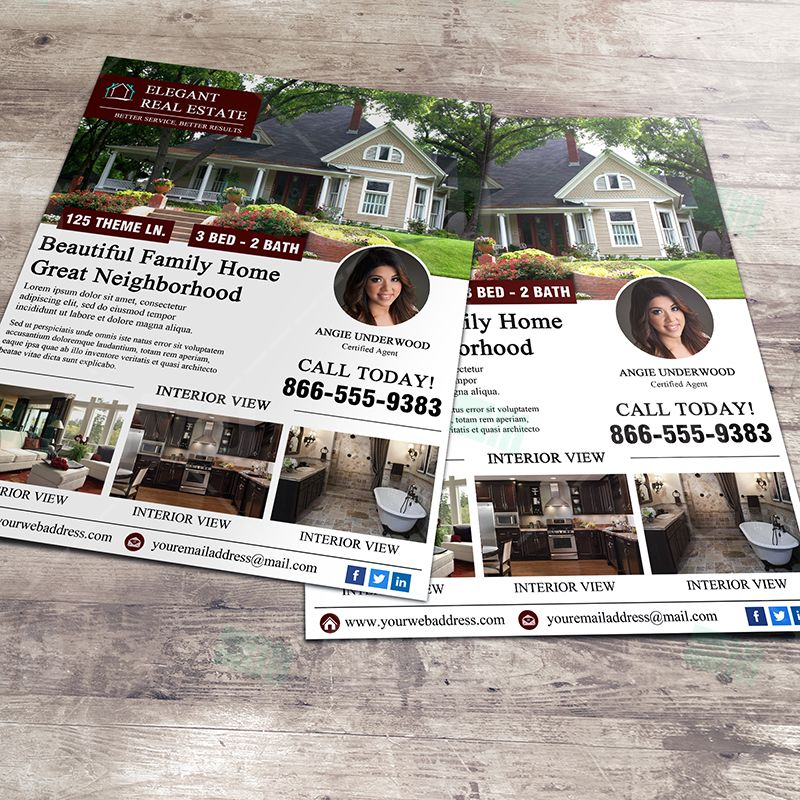 Elegant Real Estate Open House Flyer Template Professionally