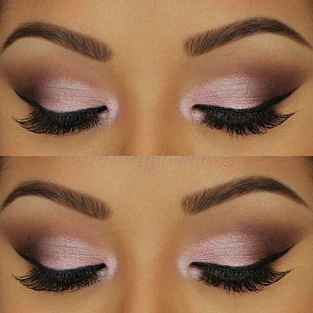 Beautiful Pink With Brown Smokey Eye Shadow Looks Pink Makeup Eye Makeup Pink Eye Makeup