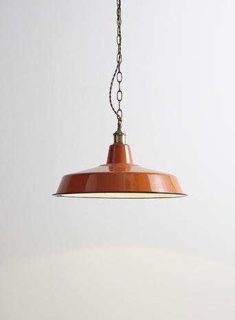 Orange Industrial Style Diner Pendant Metal Lighting For Kitchen Industrial Vintage Style Lighting Bhs Ceiling Lights Metal Lighting Light