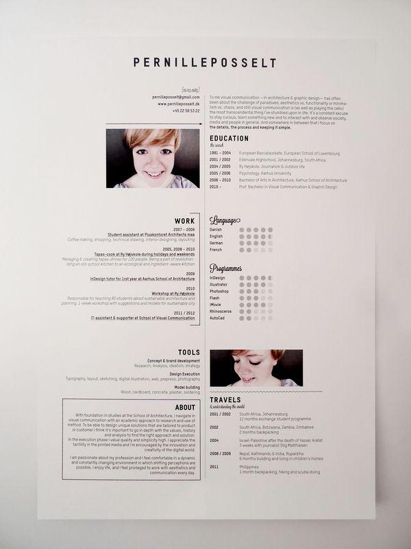resume idea Resumes Pinterest Resume Design, Cv design and