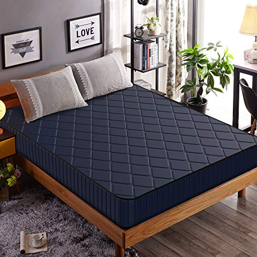 Amazon Com Edow 10 Inch Firm Foam Mattress Waterproof Cover Fabric Polyester Filled Comfort Layers Queen 10 Bed Frame Mattress Firm Foam Mattress Mattress