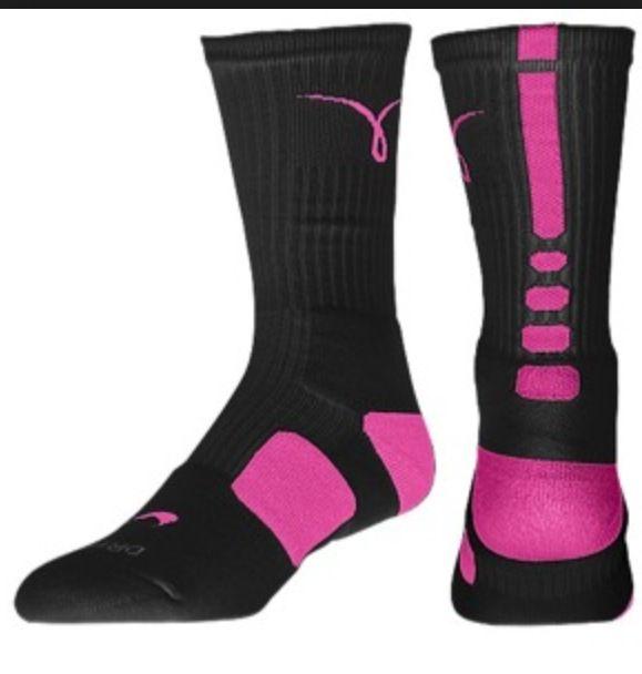 venta para barato Amazon precio barato Nike Negro Y Rosa Calcetines De Cáncer De Mama De Élite Cj87W