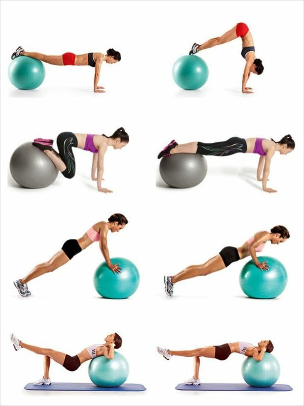 Exercise ball exercises - Losing weight is much easier -  Exercise ball exercises – Losing weight is...