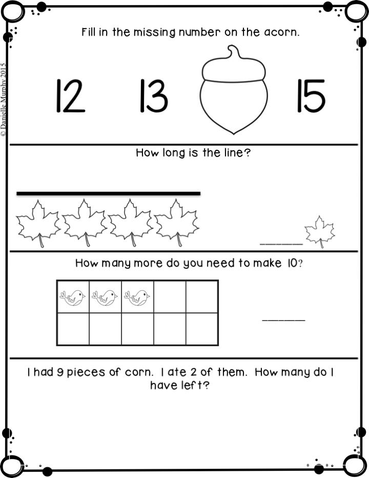 November Kindergarten Daily Spiral Review Math Journal | Math ...