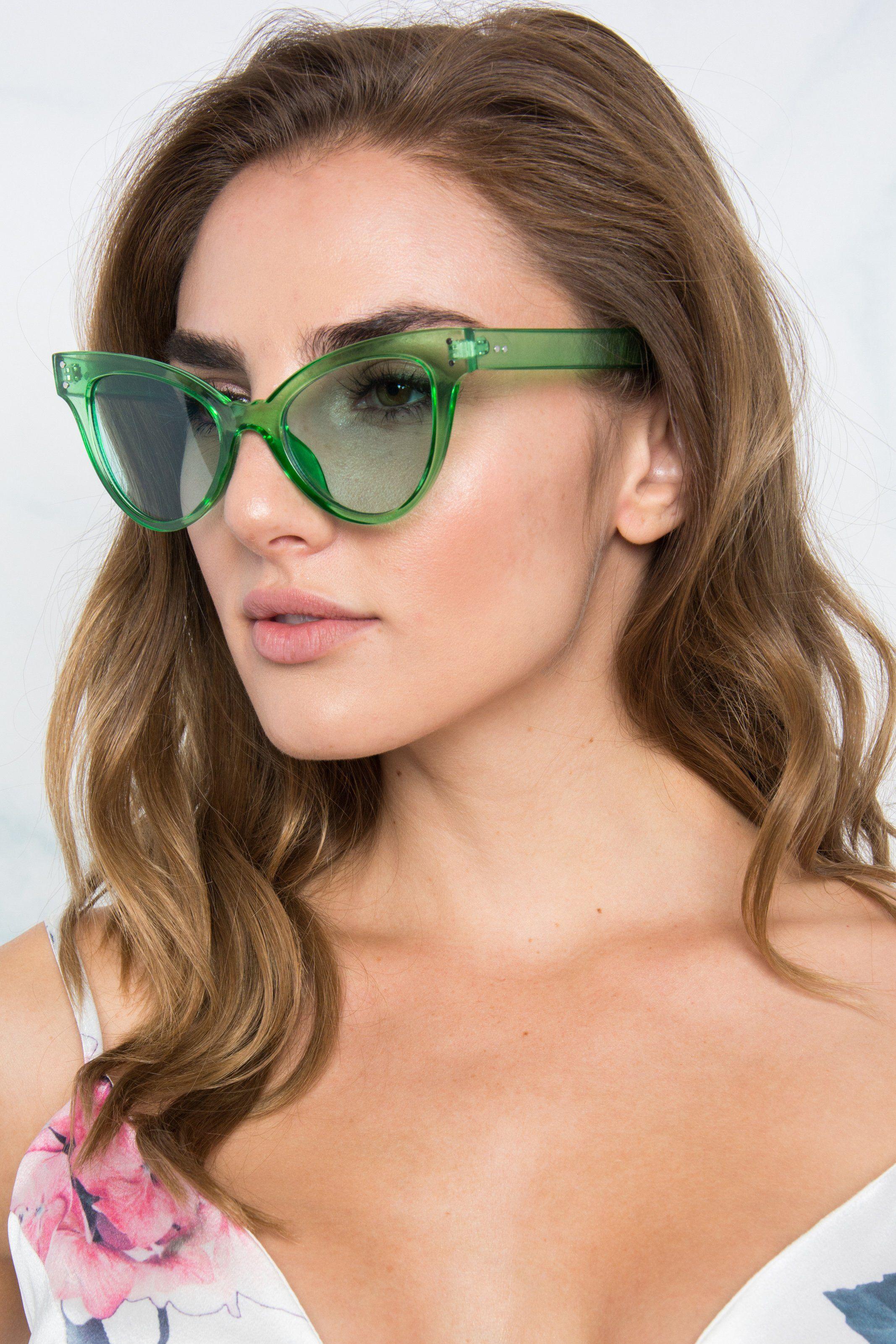 d3cff65108 Karina Cat Eye Sunglasses - Green