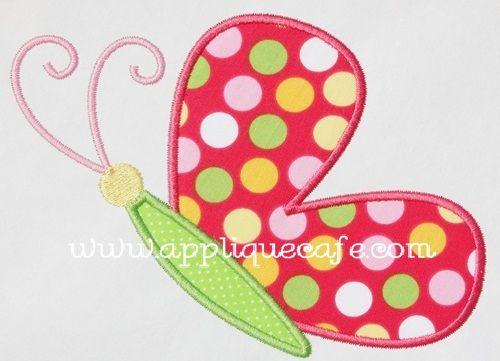 Butterfly 2 Applique Design Cute Appliques Pinterest