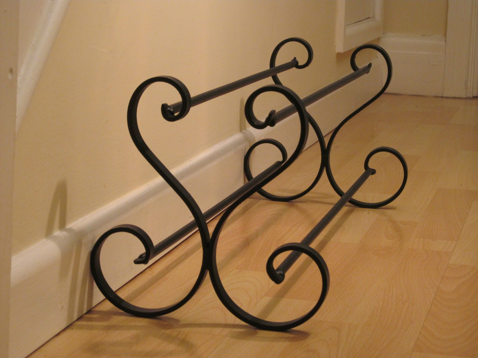 Wrought Iron Shoe Rack Metal Shoe Storage Handmade Shoe Stand