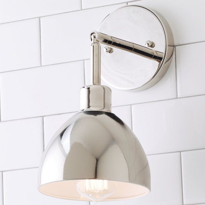 Check out Young House Love Dapper Sconce from Shades of Light & Young House Love Dapper Sconce | Dapper Chrome and Lights