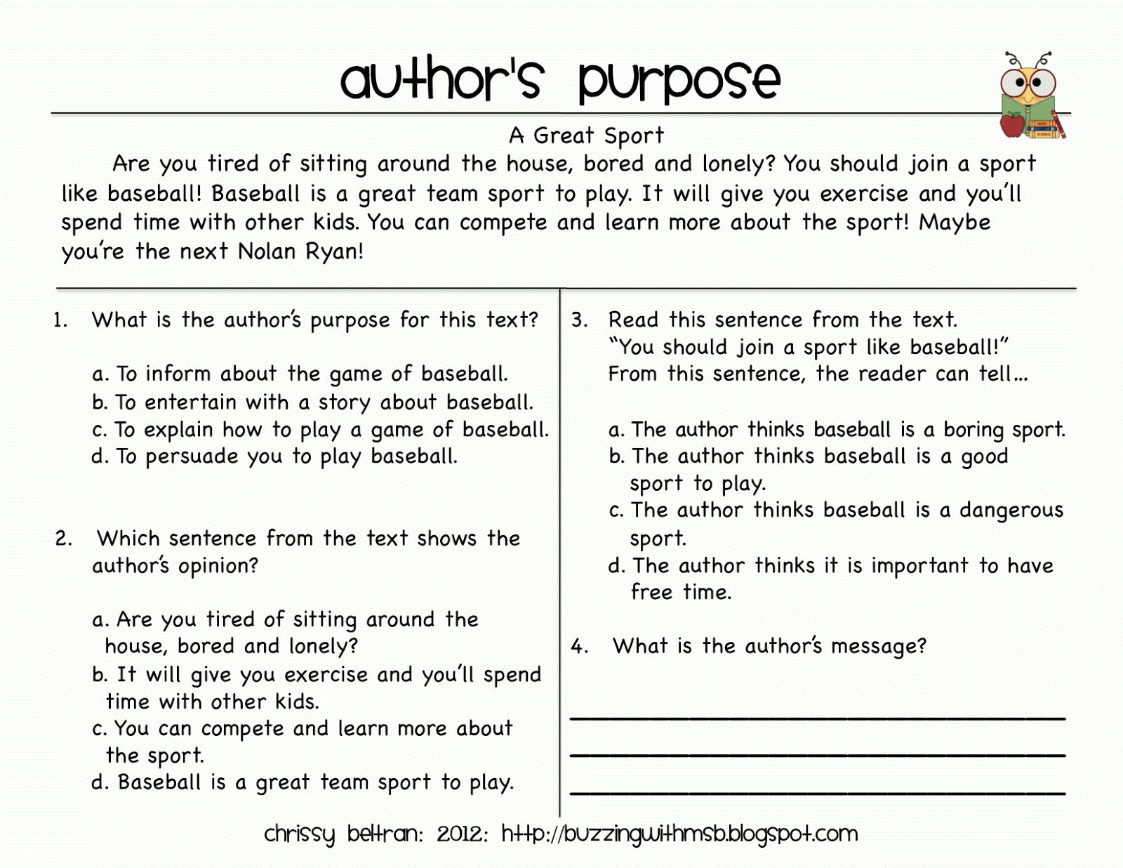 Main Idea Worksheet 5th Grade