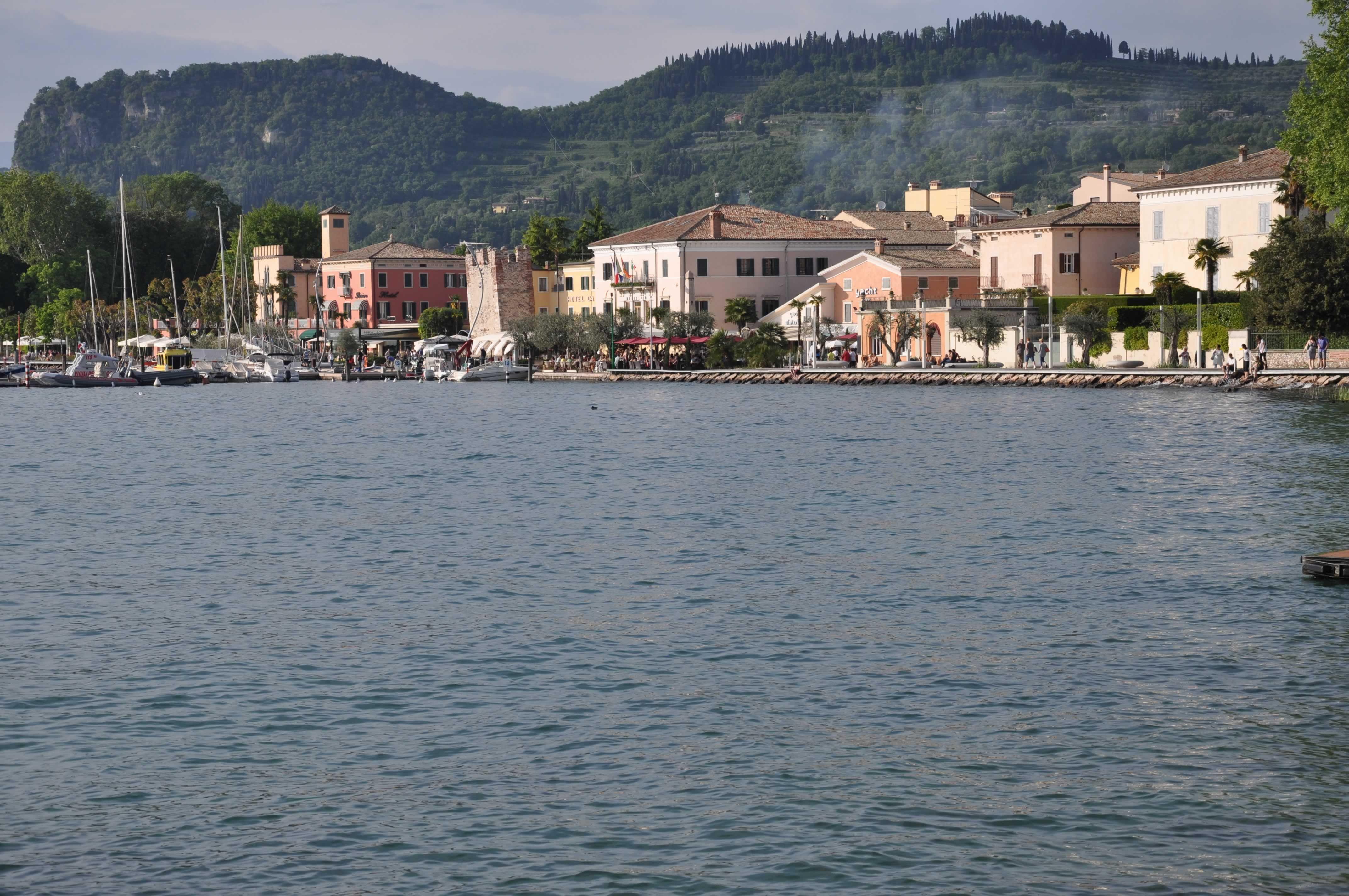 #Bardolino #lake #Italy #Garda #summer #travel #Italy #mountains #harbour