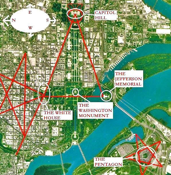 Washington Dc Occult Map Wicked Intentions Pinterest