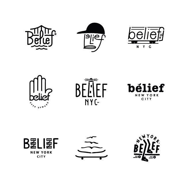 Belief NYC logo designs