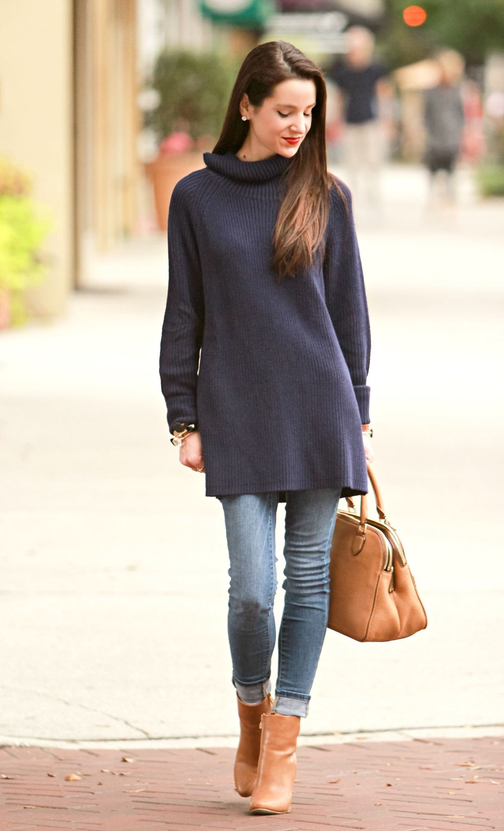 Sweater Weather: Oversized Navy Turtleneck Tunic | Debutante ...