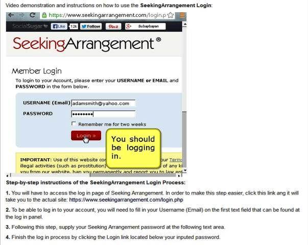 Seeking arrangement usernames