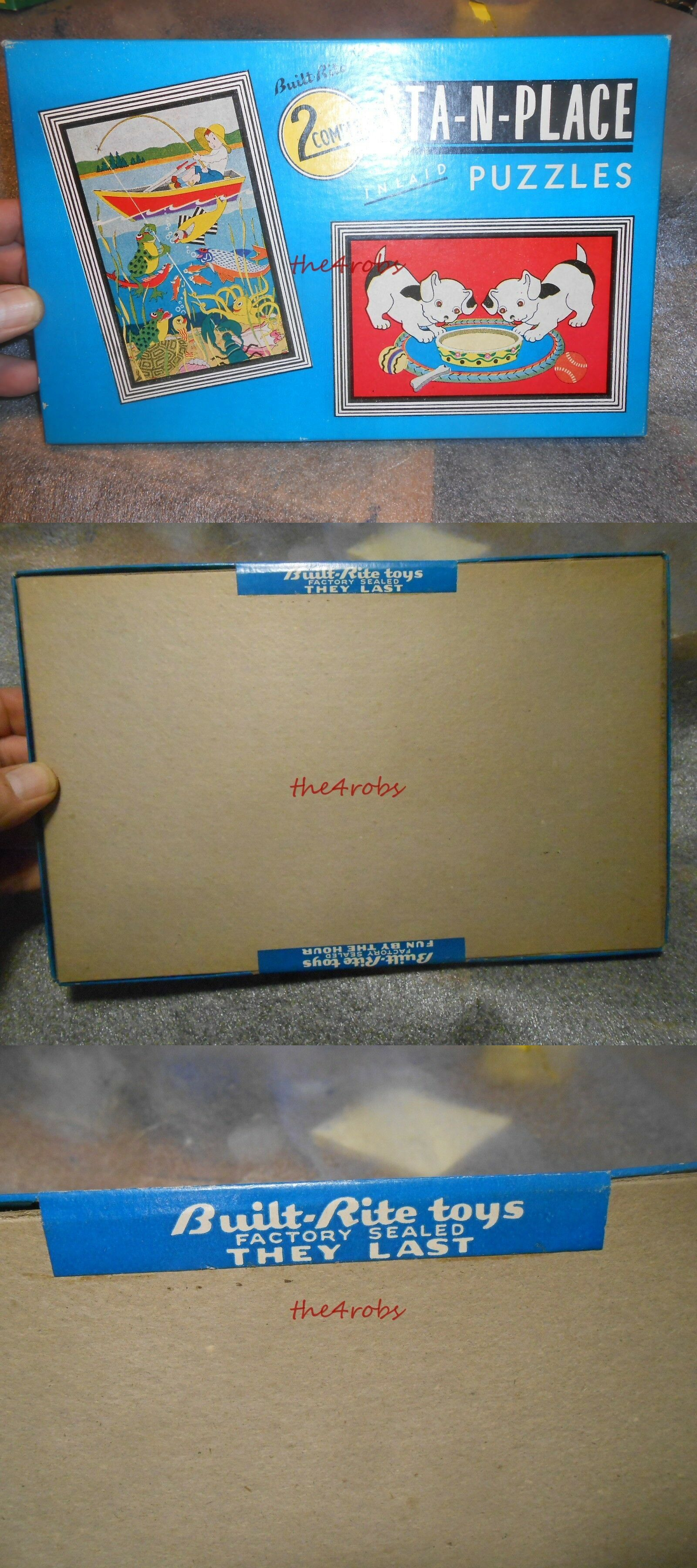 Tray Two 1950S Built Rite Sta N Place Inlaid Puzzles Sealed