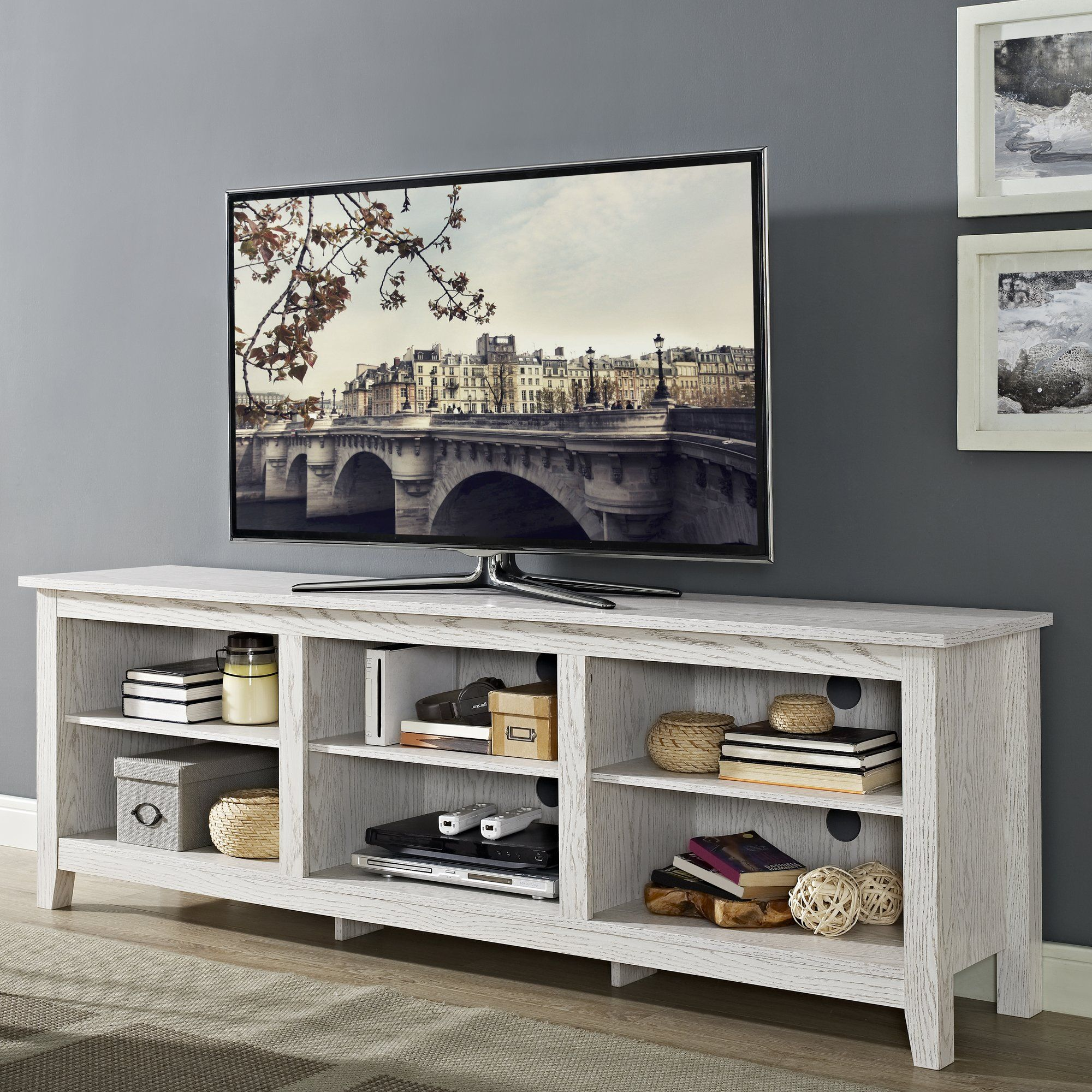 "Sunbury 70"" TV Stand with Optional Fireplace Furniture"