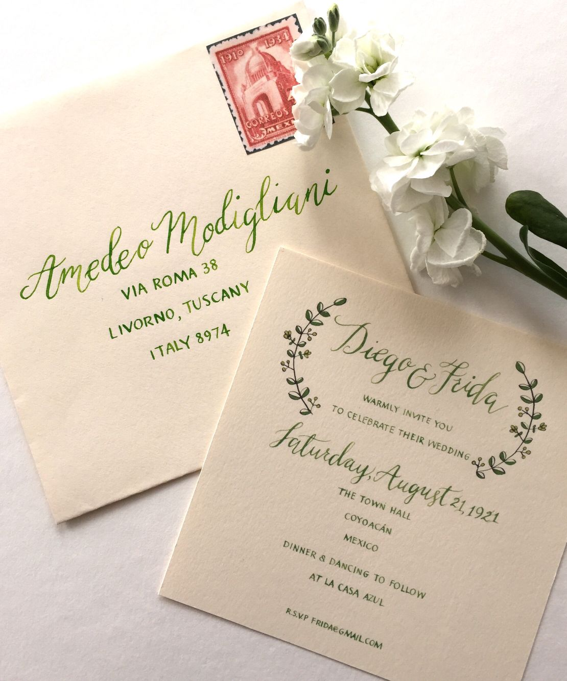 Pin By Inkberry Calligraphy On Calligraphy Wedding Invitations
