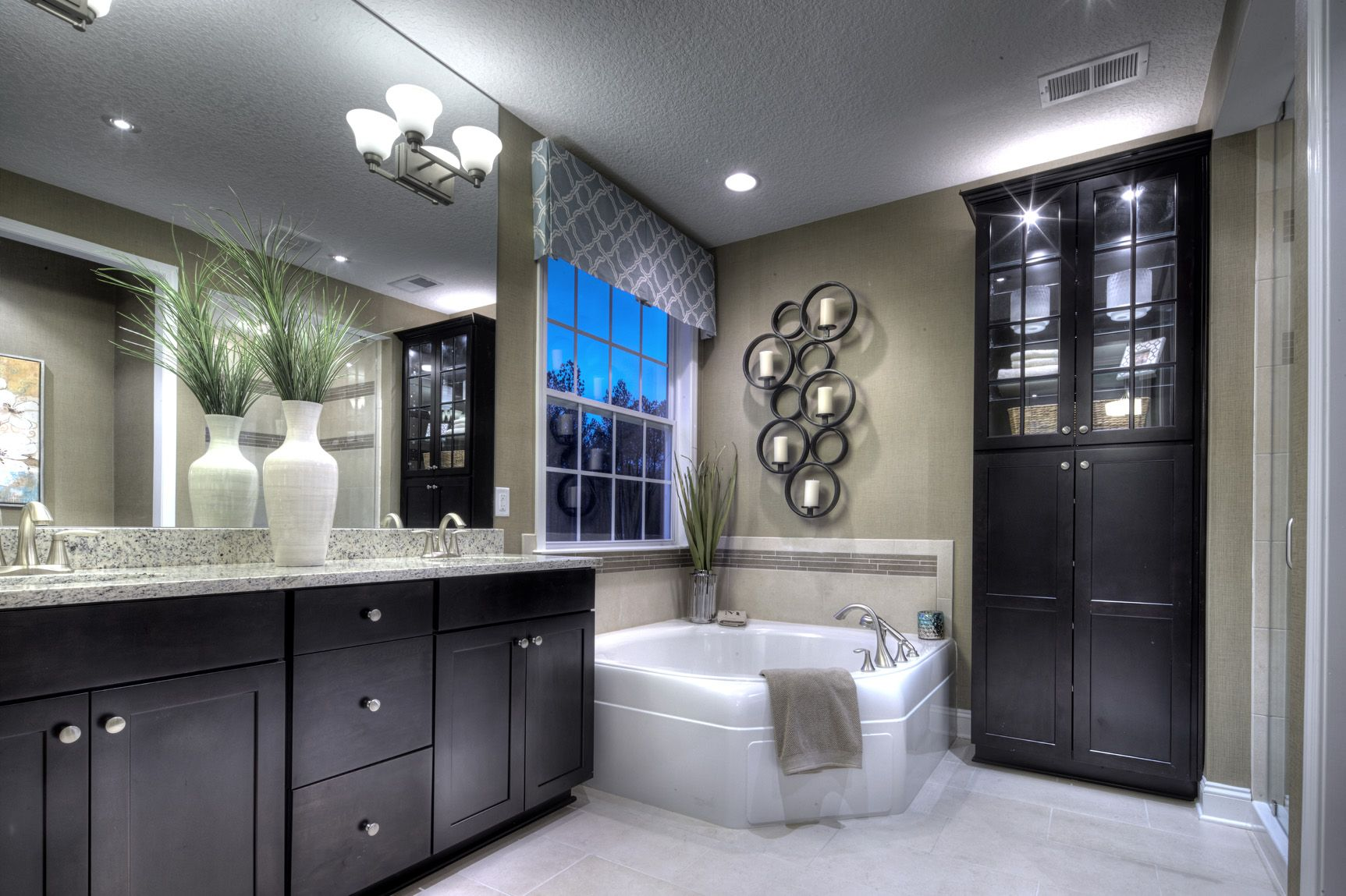 Just another mattamy bathroom with a touch of elegance for Model home bathroom photos