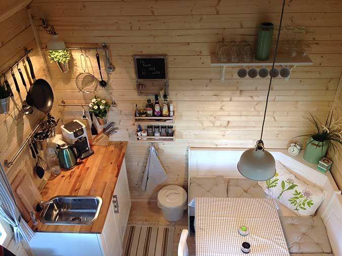 gartenhaus bunkie 40 gelungener aufbau und einrichtung garten pinterest schlafboden. Black Bedroom Furniture Sets. Home Design Ideas
