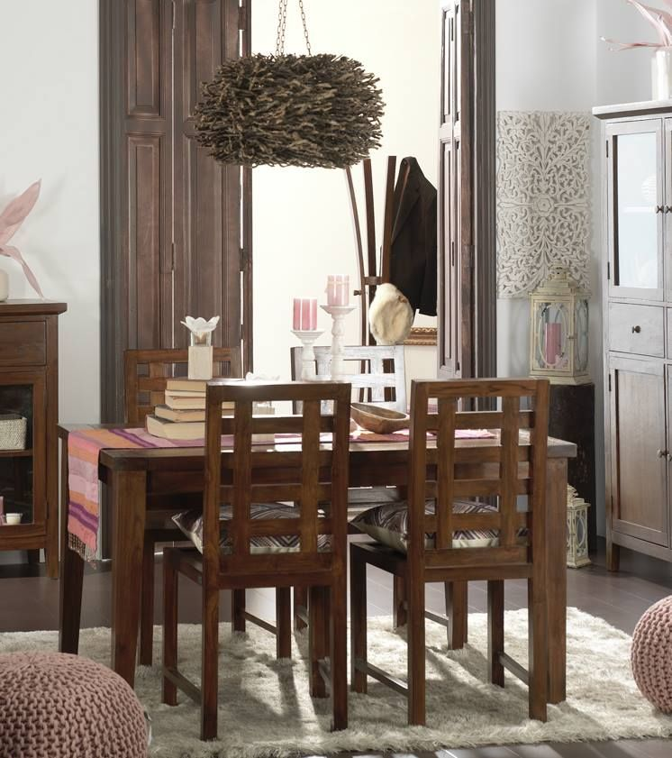afrikaan mesa comedor y sillas de banak importa idees